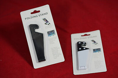 Tablet-Mobile-Folding-Stand-Cell-Phone-Portable-Ipad-Android-Samsung Black/white