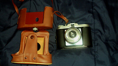 Agfa Isola 1  6043 Vintage Camera  and Leather Case Germany
