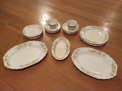 Miscellaneous Lot of WS George Lido Canarytone China (20 pieces)