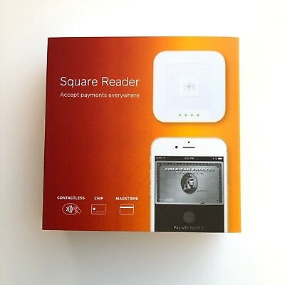 Square Reader Contactless, Chip, Magstripe, Credit Card Reader New In Sealed Box