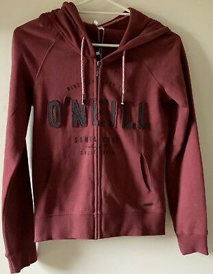 O'Neill Women's zip up fleece hoodie size 8 NEW with tags