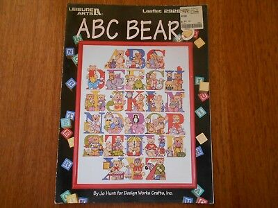 Abc Bears Cross Stitch By Jo Hunt - Leaflet 2928 - Leisure Arts - Good Condition