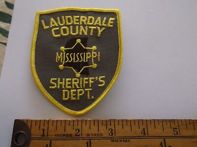 Lauderdale County Mississippi Sheriff patch