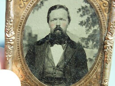 Old Vintage Antique Ambrotype Picture Photo Confederate Civil War Soldier ?