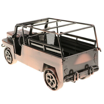 Old Style Car Vehicle Model Metalwork Art Craft Home Office Ornament QC003