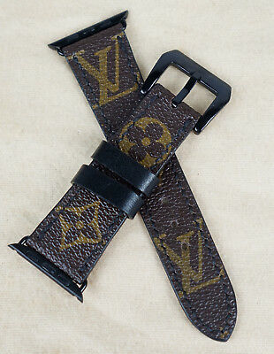 Authentic Repurposed LV Monogram Apple WATCH LOUIS VUITTON Watch BAND 42MM