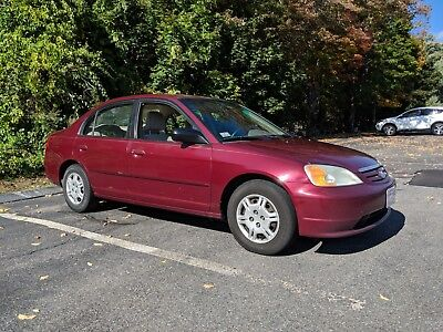 2002 Honda Civic LX 2002 Burgundy Honda Civic LX 180k Miles + FOUR Snow Tires Included