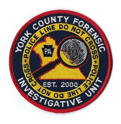 York County PA Pennsylvania Forensic Investigative Unit  patch - NEW!