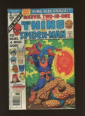 Marvel Two-in-One Annual 2 FN 6.0 * 1 Book * Marvel! Avengers! Thanos! Death!