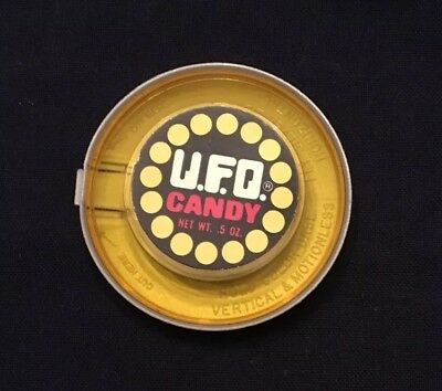 Vintage 1978 Breaker UFO Candy Container Yellow, Empty