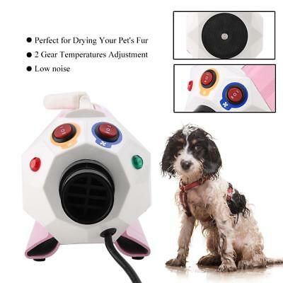 Dog Cat Grooming Blower With Heater Adjustable Speed Pet Hair Force Dryer