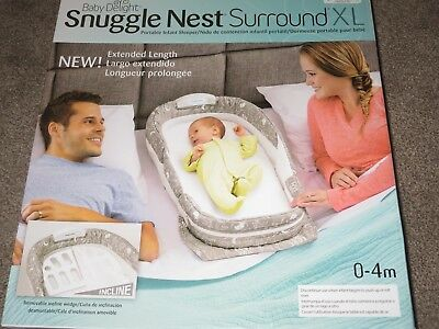 Snuggle Nest Surround XL - By Baby Delight - Co-Sleeper for 0-4 Months