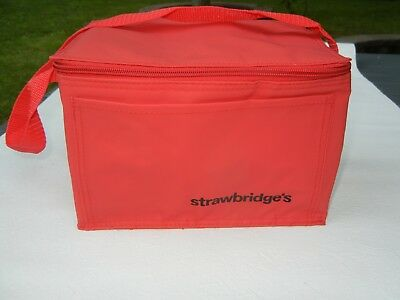 Collectible Red Insulated Cooler or Lunch Bag from Strawbridge's NWOT