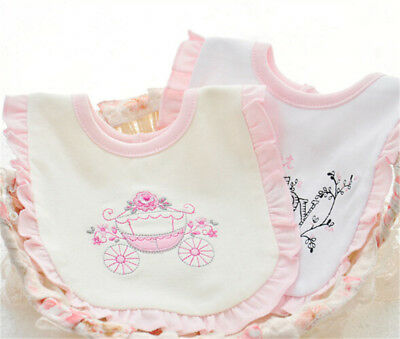 children Girl Bibs Animal Princess Lace Cotton Bandana Bibs Feeding Saliva Towel