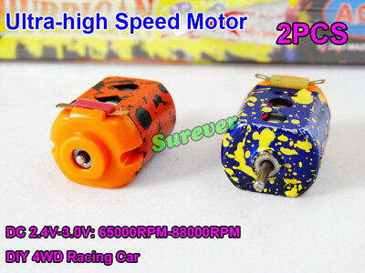 Mini 130 Motor Ultra-High Speed DC 3V 70000RPM Strong Magnetic DIY Racing Car