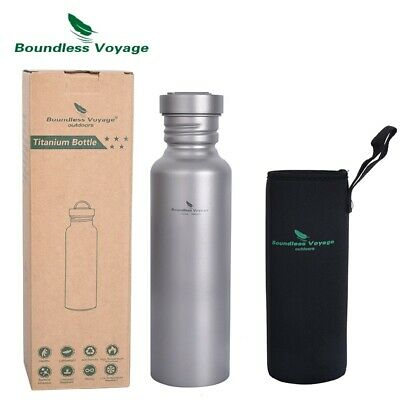 Ultralight Titanium Sports Water Bottle with Titanium Lid Outdoor Camping Bottle