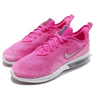 58204ff5902af Nike Wmns Air Max Sequent 4 Laser Fuchsia Silver Women Running Shoes  AO4486-601