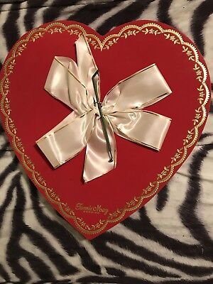 Fannie May Vintage Heart Shaped Large Candy Box (empty)