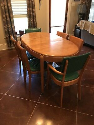 🎄🎄Heywood-Wakefield, Pre-War, 9 Piece Dining Room Set. Excellent Condition!🎄