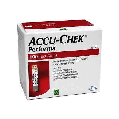 100 Test Strips Accu-Chek Performa, Glucometer Blood glucose Exp July 2020