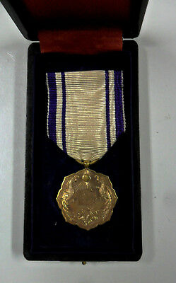 #59. WWII or earlier Japanese medal, gold, cased, unknown to me.