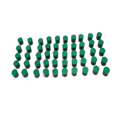 "(Lot of 50) NEW Fisher #5 Green Solid Rubber Laboratory Stoppers 1.06""x.98""x.90"""