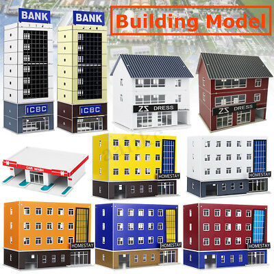 Outland Building Model 1/150 Gauge Scene House Train Layout For Xmas Gifts