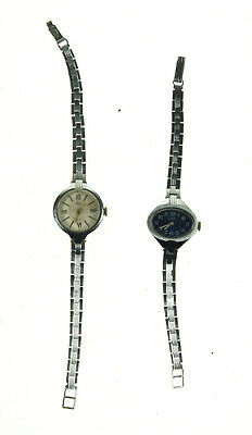 2 pcs Old Vintage Russian Mechanical LUCH Wristwatch watch Not working Nr 4932
