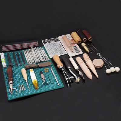 50pcs/set leather craft tools punch kit stitching sewing saddle useful durable