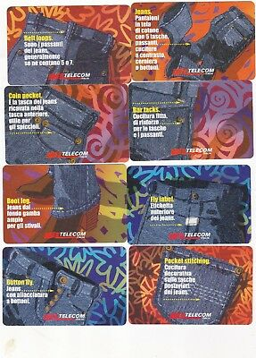 Offerta --Serie Jeans   8 Schede---Usate-- Perfette