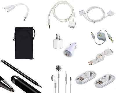 Happybird new 12pcs cord accessory set for apple ipad 2/3 AUX cable charger