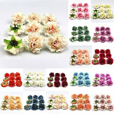 100x Artificial Silk Peony Flowers Heads Buds Petals Bouquets Craft Home Decor