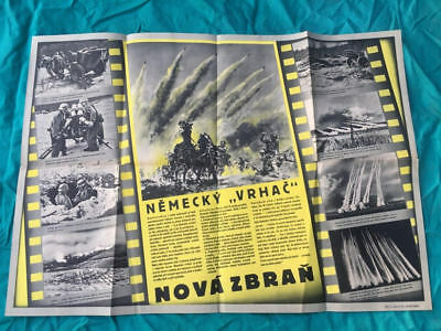 "German AUTHENTIC ""Nebelwerfer"" PROPAGANDA POSTER"