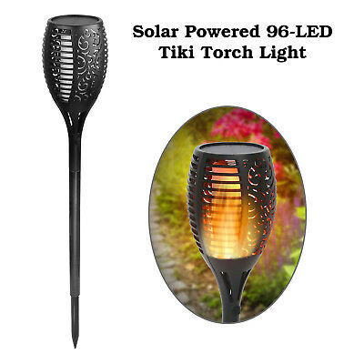 Solar Lamps Smart 2pcs 96 Led Solar Light Flickering Tiki Torches Flames Outdoor Lighting For Garden Path Yard Solar Powered Lamp Street Lights Lights & Lighting