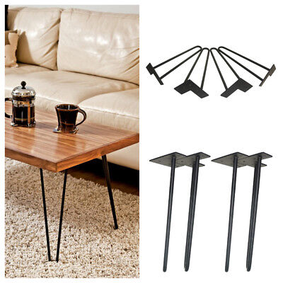 Hairpin Legs Set Of 4 Modern Style Coffee Table Legs 14 Inch Tall Solid  Steel