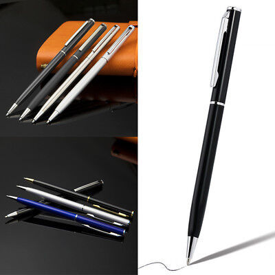 1×Stainless Steel Ballpoint Pen Office Ball Point Writing Pen Student Stationery
