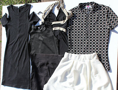 Bulk girls/teens clothing,mixed X 6 items,skirt,pants,tops,dress,Size  8 - 10