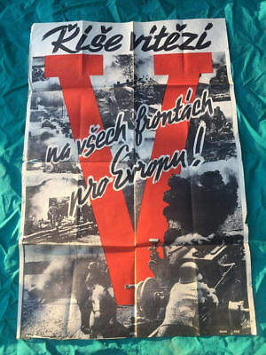 "German AUTHENTIC ""Victory"" PROPAGANDA POSTER"