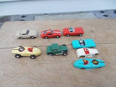 Vintage Lot Of Aurora Ho Scale Slot Cars For Parts