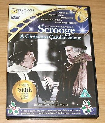 Scrooge - A Christmas Carol In Colour Alastair Sim 1951 Remastered DVD - AS NEW