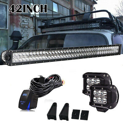 42 inch LED Light Bar Straight Off Road Truck Boat Ford Jeep SUV 4WD UTE 4x4 40