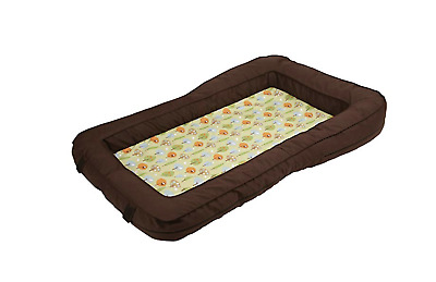 Leachco BumpZZZ Travel Bed Cover, Brown/Green Forest Frolics