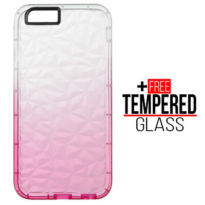 Pour iPhone 6 6S Diamond Pattern Cas Cover TPU Soft Silicone Gel Shockproof Rose