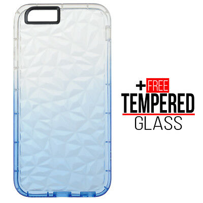 Pour iPhone 6 6S Diamond Pattern Cas Cover TPU Soft Silicone Gel Shockproof Bleu