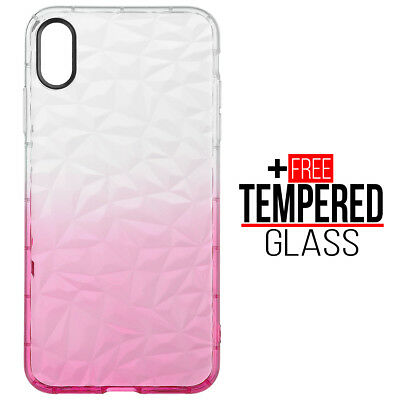 Pour iPhone XS Max Diamond Pattern Cas Cover Soft Silicone Gel Shockproof - Rose