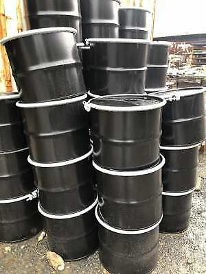 17 Gallon HD Carbon Steel Drum / Barrel w/ Cover Lid & Bolt Ring-New-Lot of 50