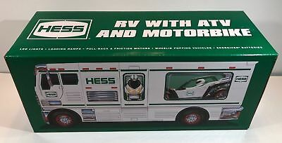 * BRAND NEW * 2018 OFFICIAL HESS Holiday TRUCKS RV with ATV & Motorbike IN STOCK