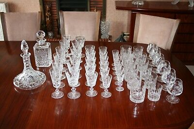 "Edinburgh Crystal ""star Of Edinburgh"" Suite Of 50 Pieces Signed Superb Condition"