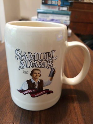 "Samuel Adam's Boston Lager Mug Tankard Stein Patriot Brewer 5""tall"