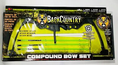 """""""NEW"""" Back Country Compound Bow Set Junior Archery for Kids Hunting Games Set"""